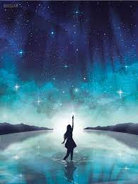 Girl Silhouette Galaxy Background ...