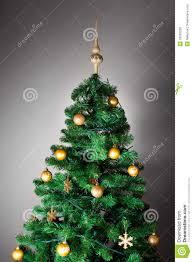 Grey Christmas Tree Decorated Christmas Tree Royalty Free Stock Photos Image 33583228
