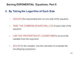 solving exponential equations part ii