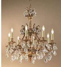 majestic 8 light crystal chandelier in french gold with crystalique plus crystal