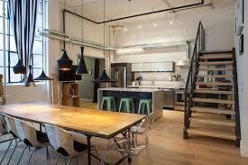 modern industrial design furniture. Awesome Modern Industrial Kitchen Design With Wooden Dining Table Furniture R