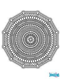 Mandala Tr S Graphique Avec De Nombreux Traits Colorier Pour Un