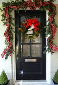 Exterior Door Decorating Similiar Around Front Door Christmas Decoration Keywords