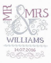 Wedding Cross Stitch Patterns Custom Scheme For Cross Stitch Wedding Cross Stitch Pattern Mr Mrs