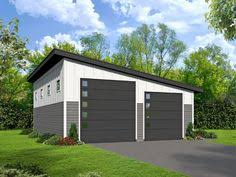 Modern garage plans Roof This Spacious Garage Plan Comes With Tandem Bay For Two Automobiles And Large Rv Baythe Slanted Roof Line Gives The Garage Contemporary Appearance Pinterest 61 Best Modern Garage Plans Images In 2019 Detached Garage Garage