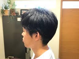 本日のお客様メンズの前髪ポイント縮毛矯正 Pelodias 奥沢