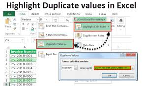 Duplicate Chart Excel Highlight Duplicates In Excel How To Highlight Duplicate