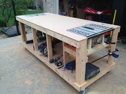 portable workbench on wheels. building your own wooden workbench | work surface, woodworking and simple designs portable on wheels
