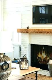 reclaimed wood mantel white brick fireplace photo 4 of 8 beautiful mantle walls recessed framed barn custom made reclaimed wood mantle