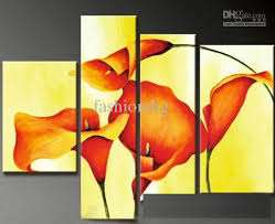 oil painting canvas abstract flower yellow background modern home decoration wedding gift wall art abstract oil painting flower oil painting oil painting