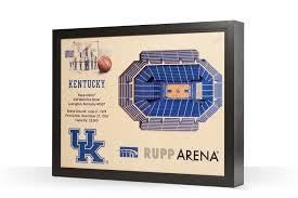 Kentucky Wildcats Rupp Arena 3d Wood Stadium Replica 3d Wood Maps Bella Maps