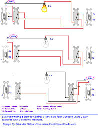 two way lighting circuit diagram the wiring diagram do staircase wiring circuit 3 different methods circuit diagram