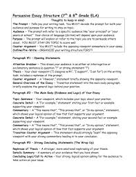 Argumentative Essay Examples 8th Grade Sample Argumentative Essay
