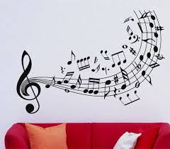 Quality Music Wall Decal Vinyl Sticker Music Notes Treble Clef Art Decor  Home Decoration Wall Mural