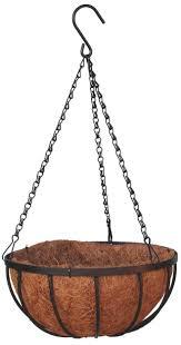 12' Georgian Rigid Iron Hanging Basket with Coco Moss Liner (Set of 10)