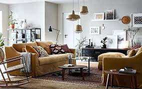 yellow living room furniture. Ikea Living Room Tables A Beige Brown And Yellow With Pair Of 3 Furniture