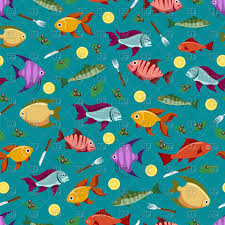 Fish Pattern Impressive Colorful Seamless Pattern With Fish Lemon And Olive Vector Image