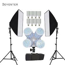 new photography photo studio continuous lighting softbox kits photo equipment and double 4 lamp holder photo studio diffuser charger