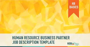 Human Resources Business Partner Job Description Template Workology