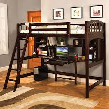 Furniture of America Hayden Espresso Twin Study Loft Bunk Bed