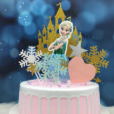 One To Four 8pcs Castle Car Crown Princess Cake Topper Combination