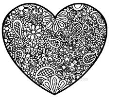 Small Picture Coloring Pages Adults Hearts Coloring Pages