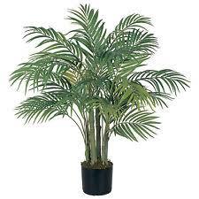 3 Ft Silk Artificial ARECA PALM Tree Tropical Fake Plant