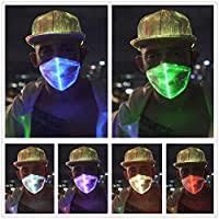 1clienic <b>LED</b> Light Up <b>Rave Mask</b> 7 Glowing Colors <b>LED</b> Dust <b>Mask</b> ...