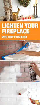 clean brick fireplace safely wall with vinegar