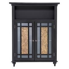 elegant home windsor espresso bathroom double door floor cabinet hayneedle