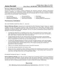 Cover Letter Marketing Resume Example With Summary Of