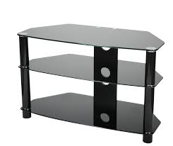 valufurniture brisa 800mm black glass tv stand for up to 42 main image
