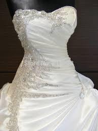 rhinestone wedding dress. Luxury White or ivory Strapless Sparkly Beading Rhinestone Wedding