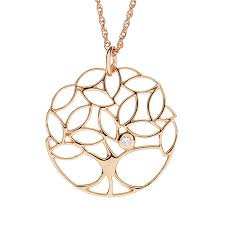 authentic irish jewellery tree of life pendant gilded in rose gold celtic dublin