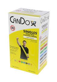 Box Of Light Band Cando Latex Free Exercise Band Box Of 30 5 Length Yellow X Light