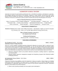 Free Resume Templates Elementary Teacher Resume Template Free Word