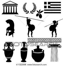 Traditional Symbols Clip Art Of Traditional Symbols Of Greece K11322696 Search Clipart