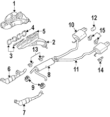 com acirc reg bmw muffler partnumber  2005 bmw x5 4 4i v8 4 4 liter gas exhaust components