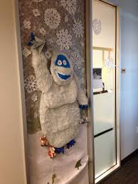 christmas office door decorating. Abominable Snowman! Complete With Reindeer Under His Feet! #holidaydecorations #2013 · Office ThemesOffice DecorationsOffice Ideas Christmas Door Decorating