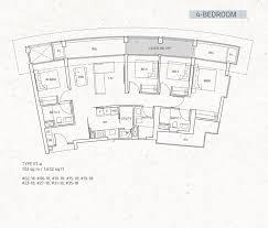 One Pearl Bank Floor Plan Four Bedroom New Launch Condo