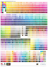 Pantone Coated Color Chart Pdf Simulations Of Pantone Matching System Free Pdf Via