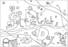 Small Picture St Patricks Day Coloring Page St Patricks Day Colouring Page 2