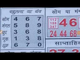 Rajdhani Chart Rajdhani Night 7 1 2019 To 11 1 2019 Weekly Chart