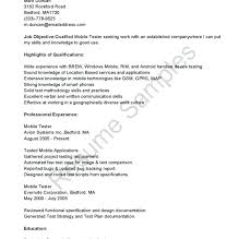 Mobile Device Test Engineer Sample Resume Amazing Pretty Sample Testing Resumes For Manual Testing Photos Manual