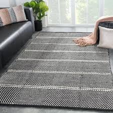 black and white area rug 8x10 tempo handmade chevron black white area rug 8 x