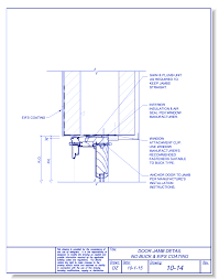 door jamb detail plan. Interesting Detail Door Jamb No Buck And TAFS Coating With Detail Plan