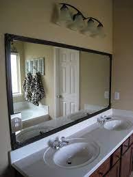 bathroom mirror quick fix diy