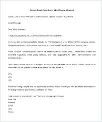 Writing An Email Cover Letter How To Email Cover Letter And Resume