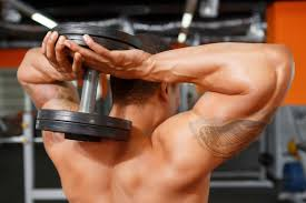 tricep extension with dumbbells