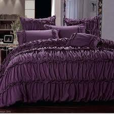 grey ruffle duvet cover queen waterfall ruffle duvet cover queen explore purple bed linen purple bedding setore cream ruffle duvet cover queen